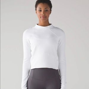 Lululemon Hill and Valley mock neck, Size 6, white